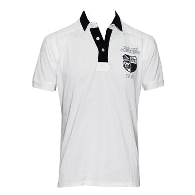 Frankie Charles White/Navy Classic Fit Men's Polo