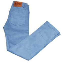 Newness Light Blue Girls Slim fitted Chinos