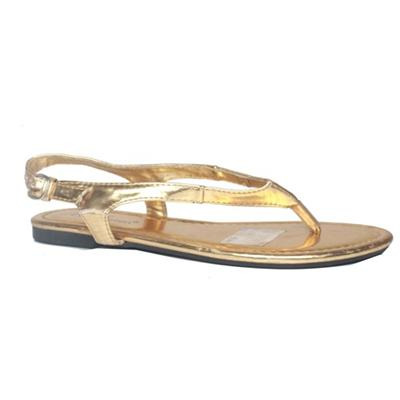 Max Collection Gold Patent Leather Girl's Sandal