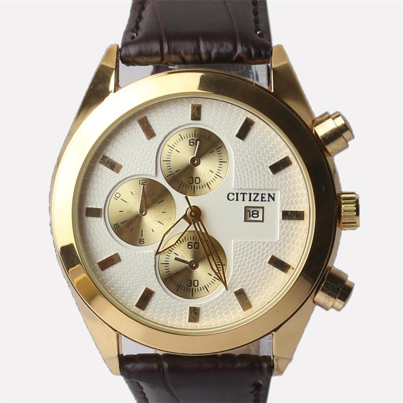Citizen Brown Leather Men's Wrist Watch