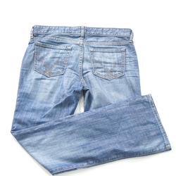 Faulty: Gap Blue Ladies Straight Jean Wt Minor Tear