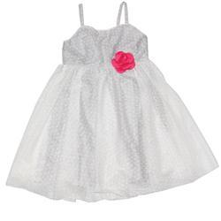 H&M White Dotted Pattern Girls Dress