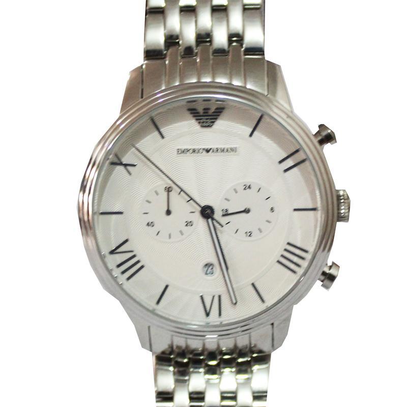 Emporio Armani Silver Stainless Steel Round Men's Watch