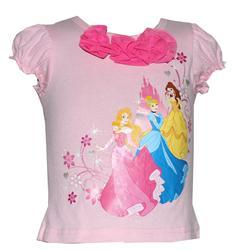 Disney Baby Pink Cotton/Pink Flower/Fairy Print Girls Top