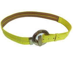 Yellow Ladies Waist Belt Wt Bronze Buckle
