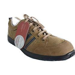 M & S Airflex Light Brown Suede Casual Shoe Wt Blue Trim