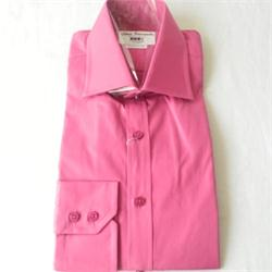 T.M John Francomb Fuchsia Men's L/S  Slim Fitted Shirt