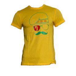 R.E.D Yellow Cotton  Green/Red Printed Men's T-Shirt