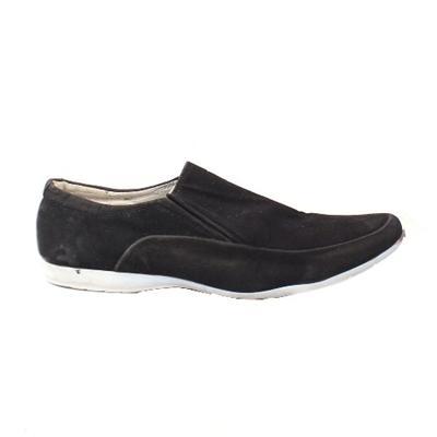 Nasen Black  Suede Men's Casual Shoe Wt White sole