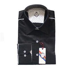 Vanni Moda Black Cotton Ladies L/Sleeve  Shirt