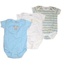 Next Blue/Coloured Stripe Mix Cotton 3-In-1 Kids Rompers