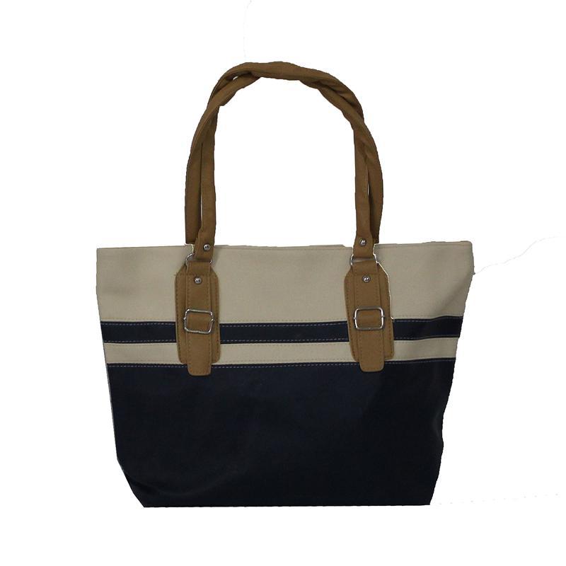 Rikes Places Navy/Cream Leather Ladies Hangbag