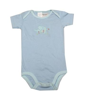 Blue Baby Romper Wt Elephant Design