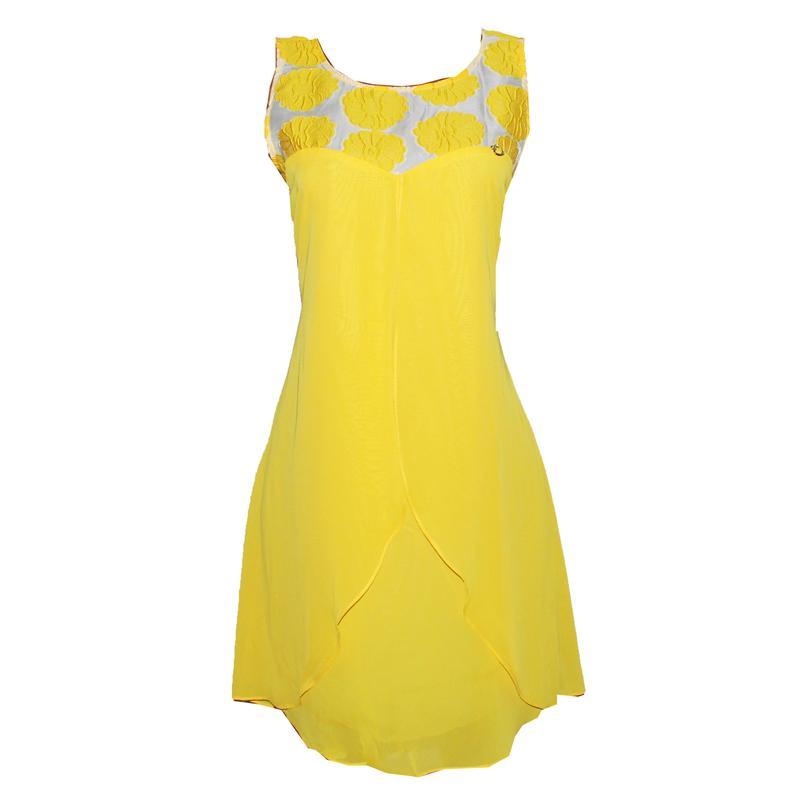 OBJ Collection Yellow  Armless Flair Dress