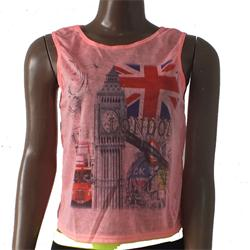 Pink Ladies Polyester Top Wt GBR Design