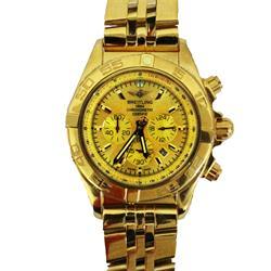 Breitling Gold Chronograph Men's Watch