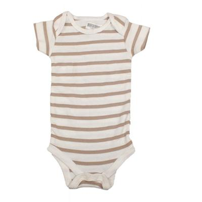 Brown/Cream Stripe Baby Romper sz Infant