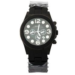 Marc Black/White Stainless Steel/Rubber Men's Wrist Watch