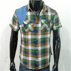 White Fish Green/Blue Men's Short sleeve Shirt
