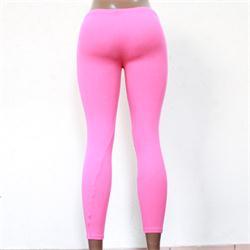 Pink Ladies Leggings Wt Black Print -