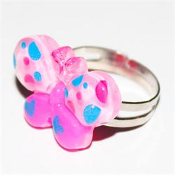 Pink/Blue Babies Butterfly Design Fashion Ring