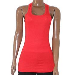 Docal Red Cotton Ladies Tank Top
