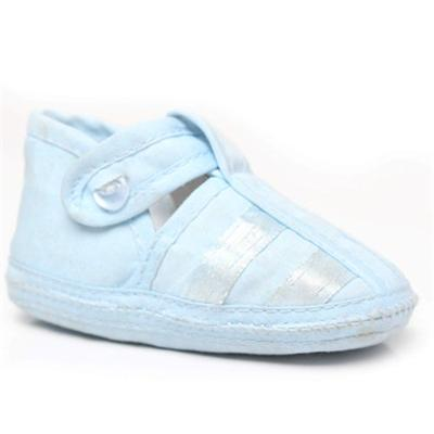 Soft Touch Blue Baby Shoe Wt Ribbon Design