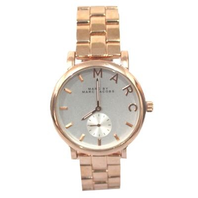 MARC JACOBS Rose Gold Men Chain Wrist Watch Wt White Face