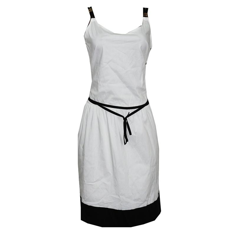 N Z L White Cotton  Dress