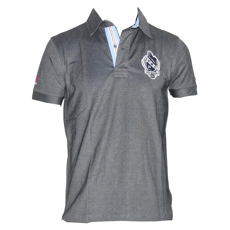 Tommy Hilfiger Gray Cotton Men's Polo