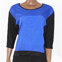 ALYX  Blue/Black Cotton Ladies  Top