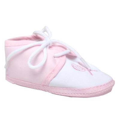 Pink/White Baby Shoe Wt HandBat Design