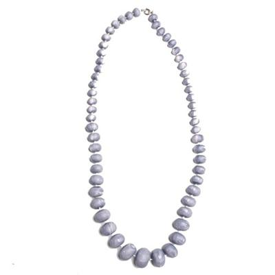 Juelz Gray Wooden Beads Necklace