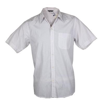 Macopolo Cream/Red Pattern Men's Casual Shirt Wt Single Pocket