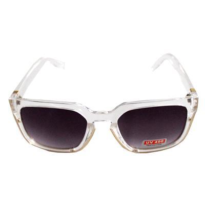 White/Gold Oval Shape Men's Sunglass