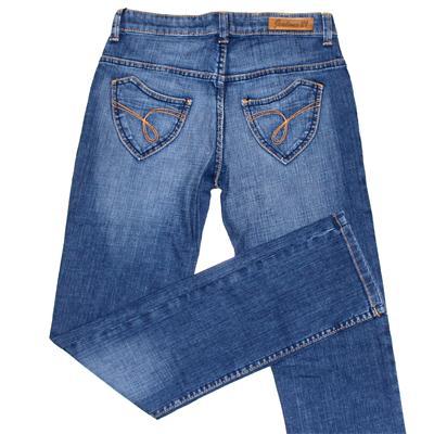 Jealous 21 Blue Denim Ladies Curved Pocket Jeans
