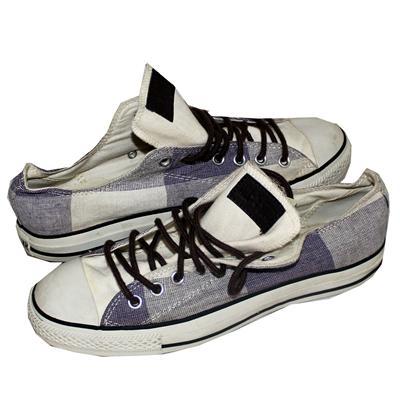 All Star Converse Cream/Purple Denim Men's Sneakers