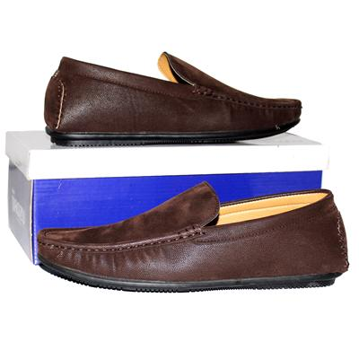 Jiaozu Coffee Nubuck Leather Men's Loafers