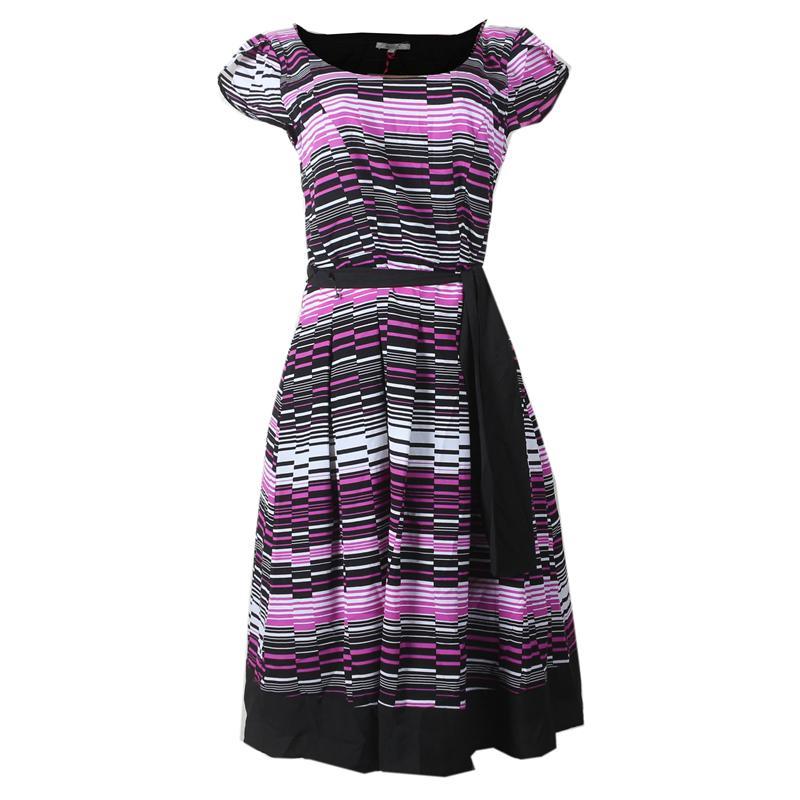 Peruna Lilac Mix Chiffon Ladies Skater Dress