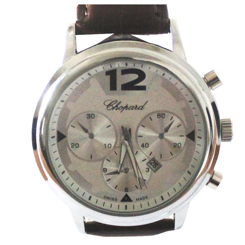 Chopard Brown Leather Chrono Design Men's Watch