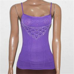 MD Purple Cotton Studed Ladies Camisole