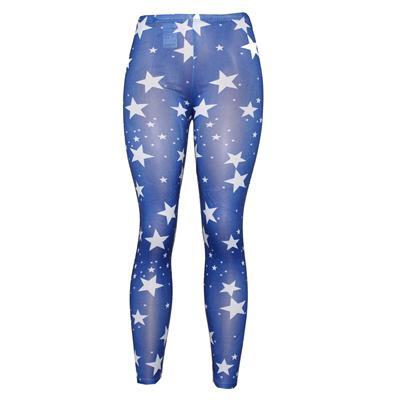 Pingfa Blue/White Star Design Ladies Leggings