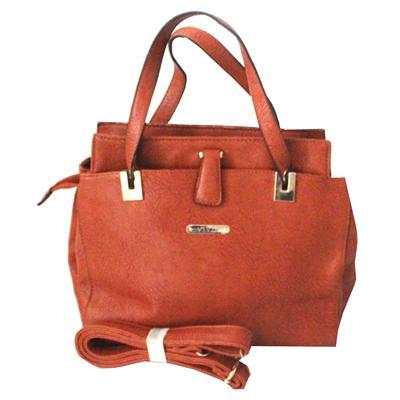 Viviq Brown Leather Ladies Handbag