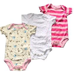 Next Pink/White Animal Print Cotton 3-In-1 Babies Rompers