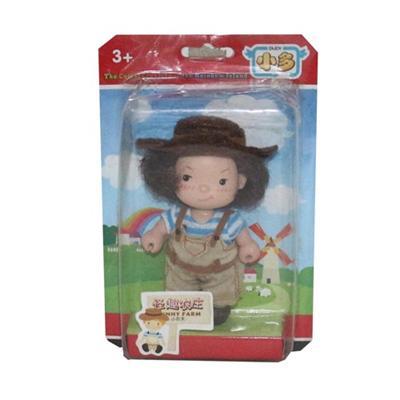 Baby G Kurhn Doll in Brown Funny Farm Wear