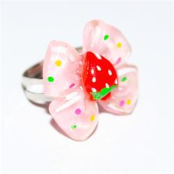 Peach/Red  Babies Bow Design Fashion Ring