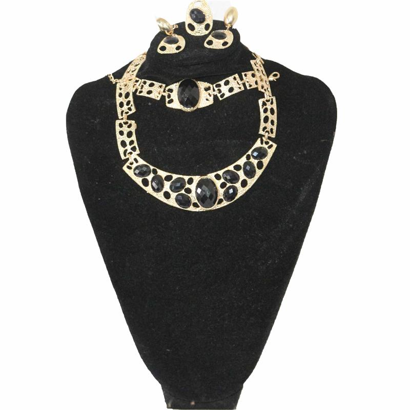 Fashion Black/Gold Jewelry Set