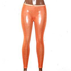 Orange Cotton Ladies Leggings