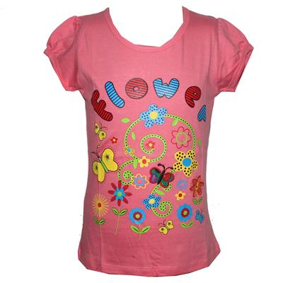 Mayogirl Light Pink Girls Top with Prints