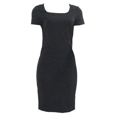 M&S Woman Black Cotton Pocket Design Armless Ladies Dress